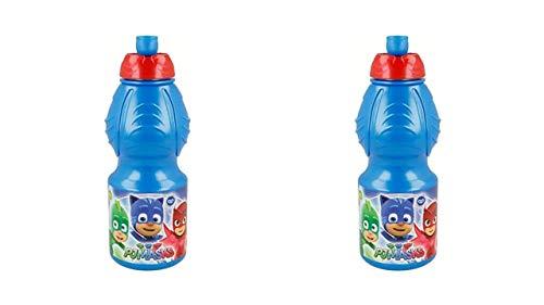 PJ Masks 9900; zurück zur Schule; 2 Sportflaschen Wasser; Fassungsvermögen 400 ml; Kunststoffprodukt; Kein BPA.