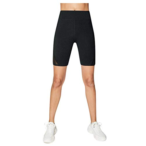 CHAOEN Kurze Damen Formende Hose Fitness Stretch Sporthose Shapewear Jogginghose Jogginghose Mesh High Waist Trainingshose
