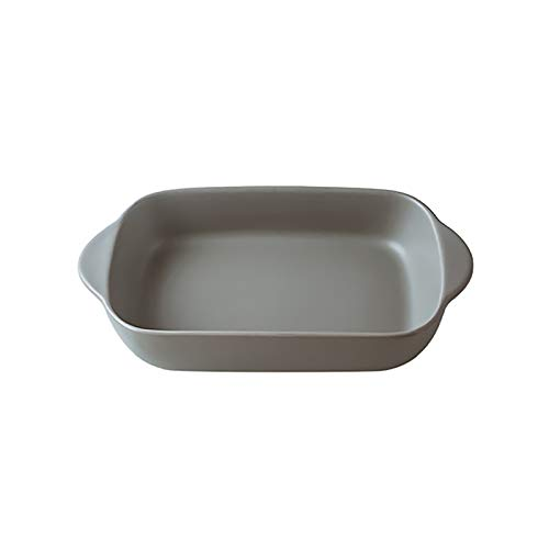 WAYERTY Matte Ceramic Baking Dishes Bakeware Not-Stick Oven Tray with Grips Kitchen Cookware Baking Molds Sustainable Baking Sheet Tray