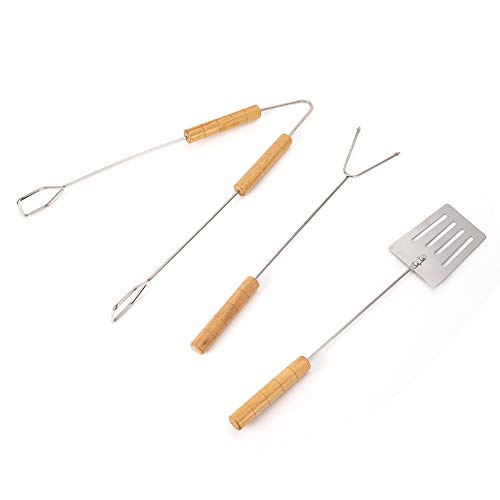 KXIUOA Grill-Clip,BBQ-Fleischgabel,Grillschaufel,3Pcs/Set Haushalt Eisengrill Fleischgabel-Clip-Schaufel-Kit Grillwerkzeuge für BBQ-Partys