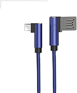 PTron Solero Type C Cable 2.4A Fast Charging Cable 1.2 Meter Long USB Cable - (Blue)