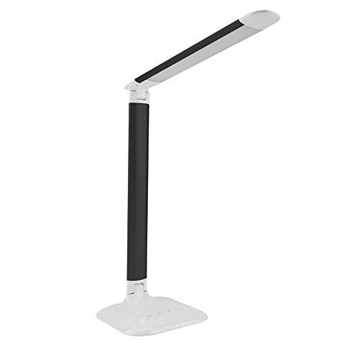 Lámpara De Mesa Brillo Plegable Ajustable Sensor Táctil Regulable Led Luz De Mesa Lámpara De Lectura (negro) Lámpara De Mesa
