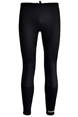 REALON Swim Tights Wetsuit Pants Women 3mm Neoprene and 2mm Men Youth Triathlon Outdoor Sport UV Suit Leggings Girls Boys Surfing Scuba Diving Snorkel (Black / 3mm Men's Neoprene, S)