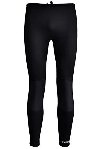 REALON Swim Tights Wetsuit Pants Women 3mm Neoprene and 2mm Men Youth Triathlon Outdoor Sport UV Suit Leggings Girls Boys Surfing Scuba Diving Snorkel (Black / 3mm Men's Neoprene, L)