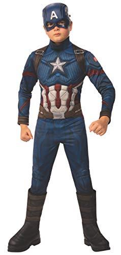 Rubies - Disfraz Oficial de los Vengadores del Capitán América niños, tamaño Grande, 8 a 10 años, Altura 147 cm