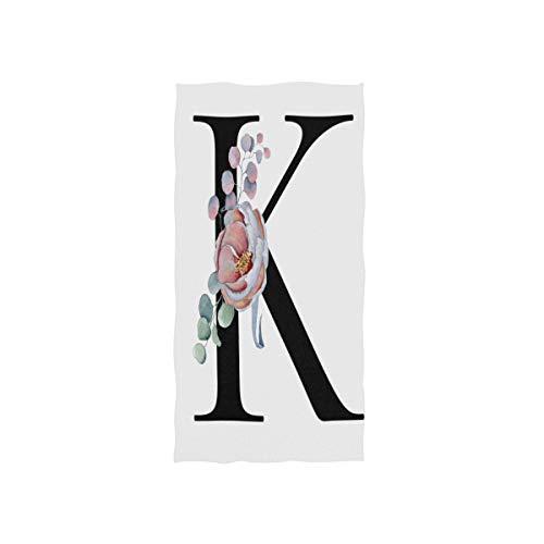 ALARGE Toalla facial floral flor K carta cotización toalla de mano absorbente durable suave toalla para el hogar cocina baño playa deporte piscina gimnasio spa