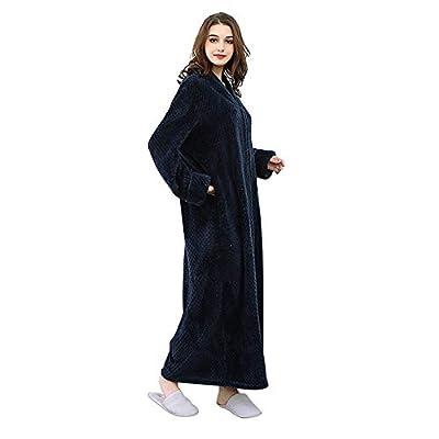 Luxurious Thicker Long Flannel Sleepwear Solid Colored Robe Women Man Plush Fleece Robes Warm Pajamas