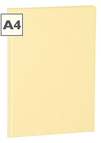 Semikolon (351244) Notizbuch Classic A4 blanko chamois (sand) - Buchleinenbezug - 160 Seiten mit cremeweißem 100g/m²- Papier - Lesezeichen