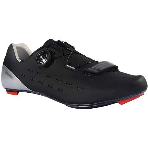 WDZJM Zapatillas de Ciclismo, Zapatillas de Ciclismo para Bicicleta de Carretera de Fibra de Carbono, Ligeras y Profesionales para Hombres, Antideslizantes, Resistentes al Desgaste,