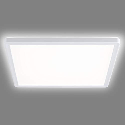 Navaris LED Deckenleuchte mit zusätzlicher Hintergrundbeleuchtung - 18 Watt - 29,3 x 29,3 x 2,8cm - 4000K - LED Deckenlampe Panel ultra flach quadratisch