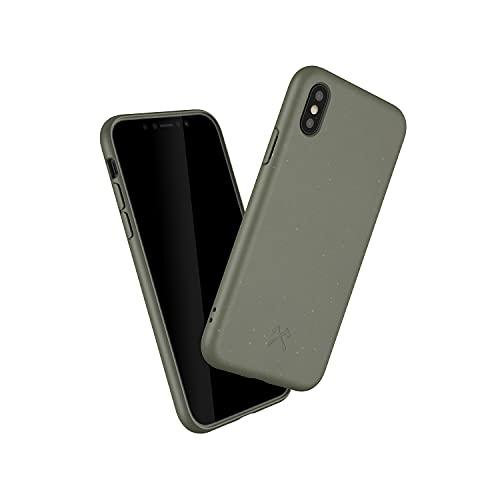 Woodcessories - Handyhülle kompatibel mit iPhone XS Hülle grün, iPhone X Hülle grün - Nachhaltig aus Pflanzen