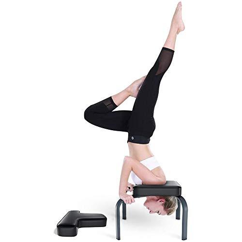 XCBW Panca Head-Yoga Inversion Chair, per Famiglia, Palestra - Tubi d Acciaio e Cuscinetti in PU, Attrezzature per Il Fitness - Allevia la Fatica e costruisci Il Corpo,Nero