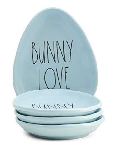 Rae Dunn by Magenta Easter Appetizer Plates - Set of 4 (Bunny Love)