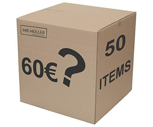 MB Müller Mystery Überraschungsbox -Mehrfach Warenwert vom Kaufpreis -Insgesamt 50 Artikel Rock-, Gothik und Steampunk-Liebhaber