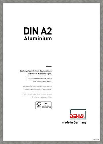 DEHA Aluminium Bilderrahmen Tribeca, 42x59,4 cm (A2), Struktur Grau Matt