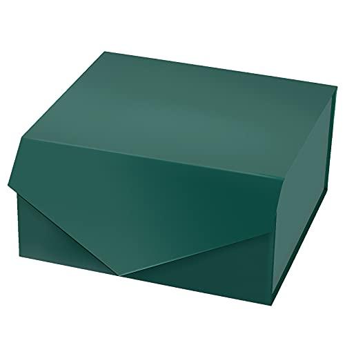 Holijolly Confezione Regalo Verde Foresta Da 1 Pezzo Con Coperchi-Confezione Regalo Pieghevole Con Chiusura Magnetica E Carta Velina Bianca Da 2 Pezzi,Perfetta Per Compleanni,Feste-20,32X20,32X10,16Cm