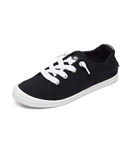 Roxy womens Rory Slip on Shoe Sneaker, Black/Anthracite, 8.5 US