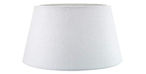 Lampara Colgante/Mesa de Tela de Lino Blanco de 8 Pulgadas Tradicional/Pantalla de 40w Máximo por Happy Homewares