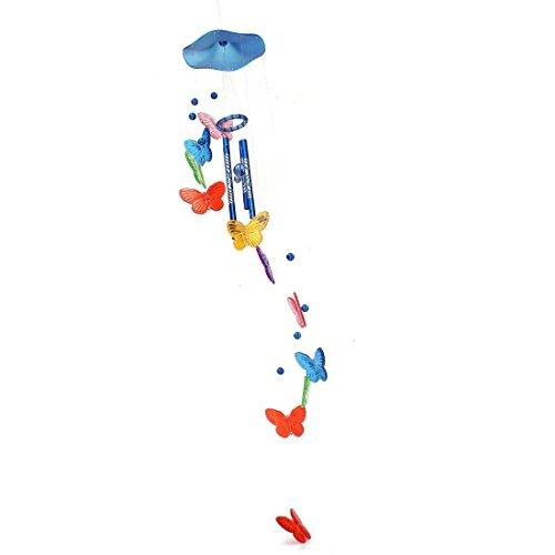 Schmetterling Campanula - TOOGOO(R)Windspiel Klangroehren Schmetterling Feng Shui Klangspiel Haus Deko, Bunte Blau