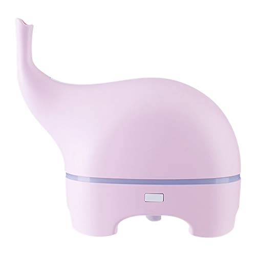 SNOWINSPRING USB Funny Elephant Ultraschall ?Therisches ?L Diffuser Farbe LED Humidificador Tragbarer Luftbefeuchter Fogger Rosa