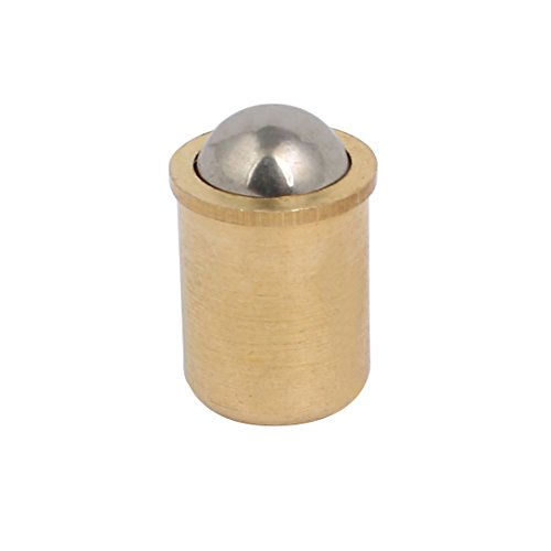 uxcell 12mm Diameter Brass Body Press in Type Ball Nose Spring Plunger