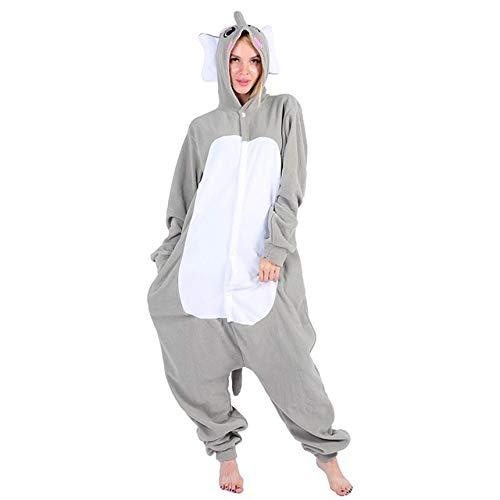 YUHUALI Pyjamas Frauen Männer Erwachsene Paare Anime Festival Party Animal Mit Kapuze Pyjama Polar Fleece Pyjamas