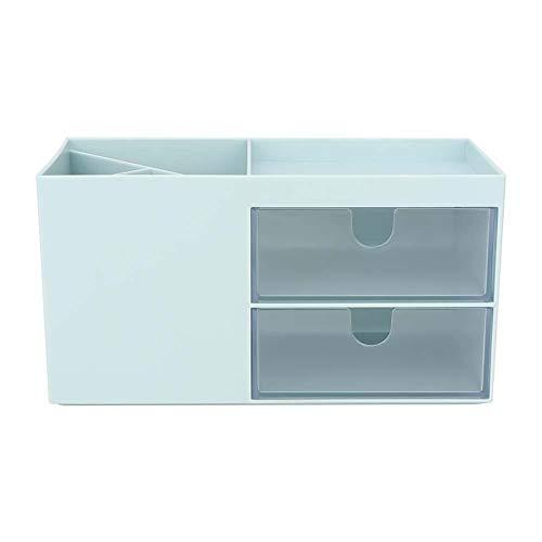 Caja de almacenamiento, Cajón multifunción de escritorio Joyas Papelería Caja de almacenamiento Soporte de contenedor Oficina Hogar(Verde)