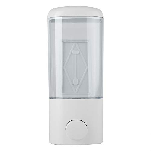 Dispensador automático de jabón, líquido, dispensador de jabón y champú para pared, dosificador líquido para baño, cocina, baño, hotel, blanco