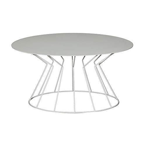 Viadurini Design salontafel modern van gekleurd ijzer Made in Italy - Danal 53x72x38h cm Wit