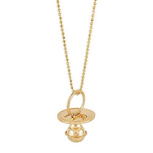 Halsketting voor dames Dolce Attesa fopspeen chiama engel goud zilver 925 Miss 06ZLHFM