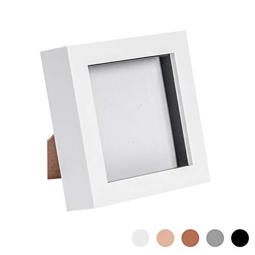Nicola Spring 4x4 Box Fotorahmen weiß - stehend und hängend