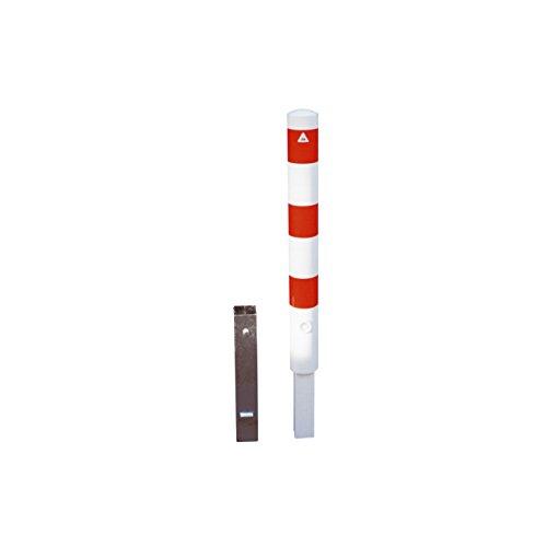 Absperrpfosten Ø 89 mm herausnehmbar mit Dreikantverschluss und Bodenhülse