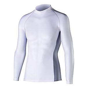 おたふく手袋 ボディータフネス 冷感・消臭 パワーストレッチ 長袖ハイネックシャツ JW-625 ホワイト L 5枚1セット
