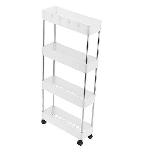 Estante para condimentos de cocina, fuerte soporte de carga 33.9x15.7x5.1 pulgadas Estante de almacenamiento móvil para baño para cocina para dormitorio para oficina