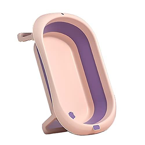 SLDAGe Bañera Portátil para Bebés, Material PP + TPE Bañera Recién Nacida Plegable Diseño De Almohadilla Antideslizante para Los Pies para Niños De 0 A 15 Años,Verde
