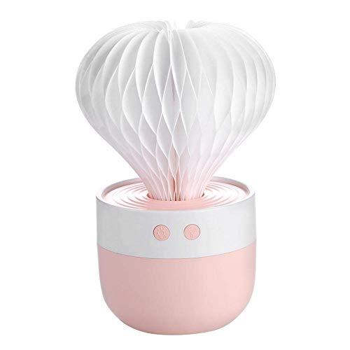 VROSE FLOSI Mini USB 7 Farbe Lichter Aroma Diffuser 35ML Luftbefeuchter Ätherisches Öl Diffusor Room Decor mit Nachtlicht für Office Home Spa Yoga (Pink)