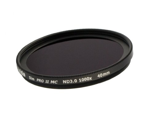 Neu: Slim PRO II Digital MC Graufilter ND 3.0 (1000x) - 40 mm für Fujifilm X10 / X20 / X30 - Inkl. Objektivdeckel