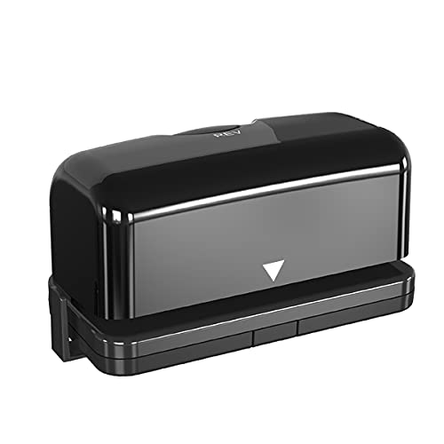 Electric 2 Hole Punch,VEYETTE Black Hole Punch,Punches Up to of 12-15 Sheets Paper, AC or Battery