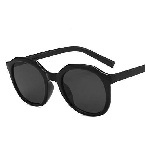 TYOLOMZ, Gafas de Sol con Montura Redonda pequeña para Mujer, Gafas de Sol con protección de Color de té de Leche a la Moda, Ropa de Calle Uv400, Gafas de conducción
