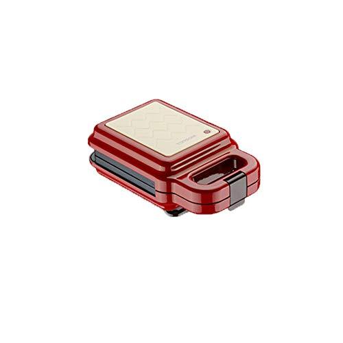 Encantador Japonés Sandwichera, Sandwichera 3 en 1,2 Placas Antiadherentes Intercambiables, para Sandwiches, Gofres y para Cocinar al Grill, Termostato,550W,Rojo,Regalo de navidad