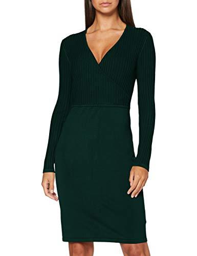 ESPRIT Collection Damen 080EO1E333 Kleid, 385/BOTTLE Green, XL