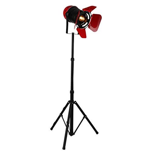 Photography Tripod Floor Lamp Industrial Style Home & Office Decor Studio Spotlight Searchligh