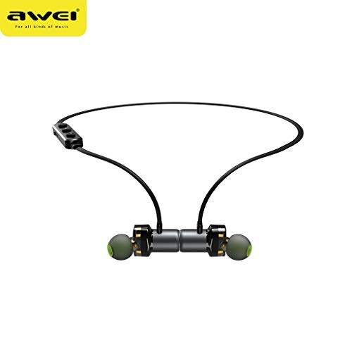 Cloodut Bluetooth micrófono Dual Drive inalámbrico Bluetooth Over-Ear Auriculares Ohrhörer Mikrofon-Headset para teléfonos móviles IPX7 estanco Compatible con Todos los aparatos Inteligentes Grau_GY