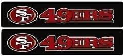 Fremont Die San Francisco 49ers Sicherheitsgurt Pads, 2Stück Fußball