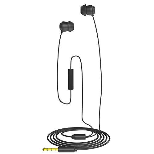 Docooler X110 Schlaf-Kopfhörer Anti-Lärm In-Ear-Kopfhörer Ultra-weiche Silikon-Ohrhörer 3,5 mm verdrahtete Headset Kompatibel mit iPhone Android Smartphones