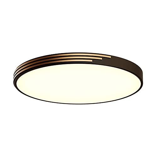 ZHANGL Lámpara De Techo Redonda Ultrafina De Cobre La Pantalla De Acrílico Empotrada LED Se Utiliza para Luces De Decoración De Interiores Aparato De Iluminación De Atenuación De Tres Colores