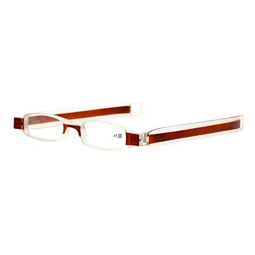 Xniral Presbyopic Brille Lesebrille Hyperopia Eyewear Brille(1.0 Dioptrien)