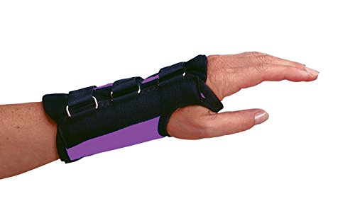 Rolyan 59833 Purple D-Ring Left Wrist Brace, Size Medium Fits Wrists 6.75'-7.5', Wrist Brace 7' Long with Straps and D-Ring Connectors to Secure and Stabilize Hands and Wrists and Provide Comfort