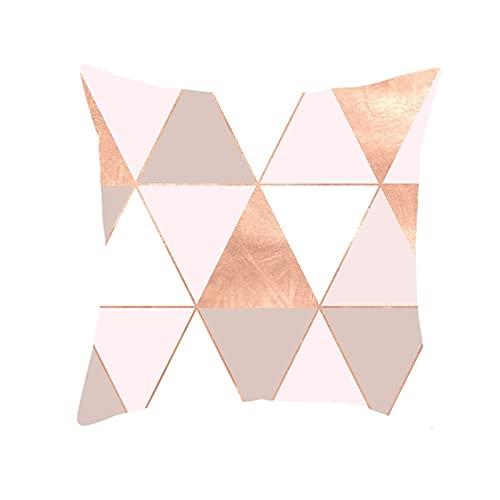 Agoble Adornos Habitacion, Cojines para Exterior Poliéster 1 45X45Cmfunda Cojin Blanco Rosa Triángulo