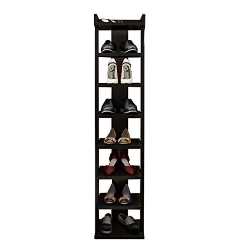 QQXX schoenenrek houten plank pantoffels plantenrek plantenstandaard 30cm breed zwart voor hal/woonkamer/slaapkamer/gang 30X30X80CM 30X30X128CM 1